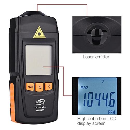 Digital Tachometer Industry Rotate Speed Tester RPM Tach Measure