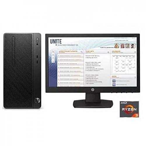 Pro MT A2200 PC AMD Ryzen3 2200 (500GB HDD, 4GB DDR4) Desktop + 18.5-Inch Monitor, FreeDOS - Black