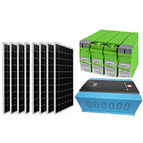 Complete 10kVA/48V Solar System Package 1 X 10KVA Inverter, 4 X 200Ah Battery, 8 X 250W Solar Panel And 1 Free Recharge Control