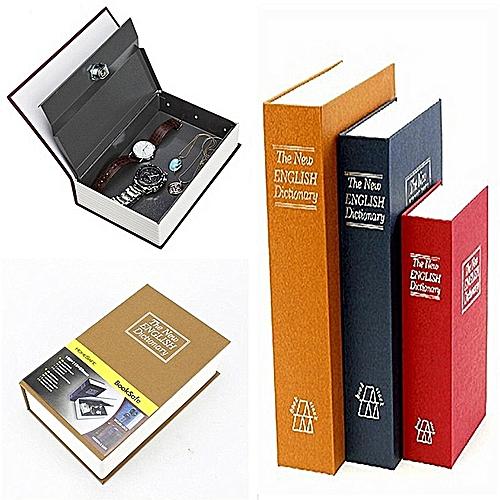 Metal Steel Cash Secure Hidden English Dictionary Money Box Coin Storage Box Secret Piggy Bank S