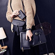 d39a633cc7 Women Four Set Fashion Handbag Shoulder Bag Four Pieces Tote Bag Crossbody  Wallt