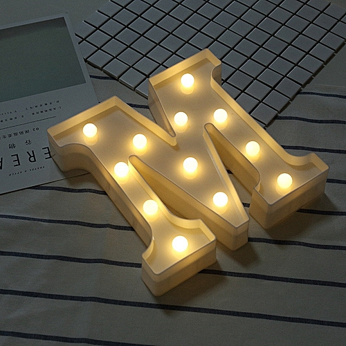 Tohayie Alphabet Led Letter Lights Lit White Party Creative Word