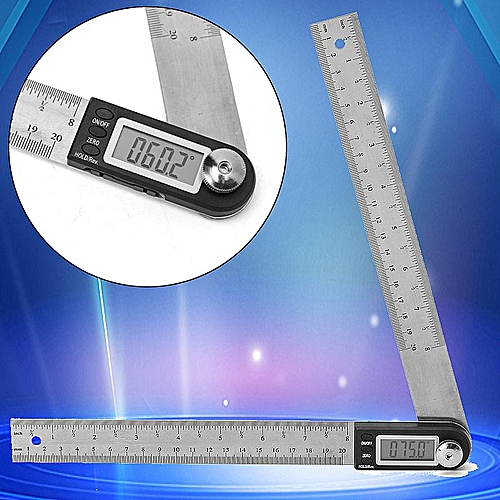 200MM Stainless Electronic Ruler Scale Angle Finder Digital Display Protractor