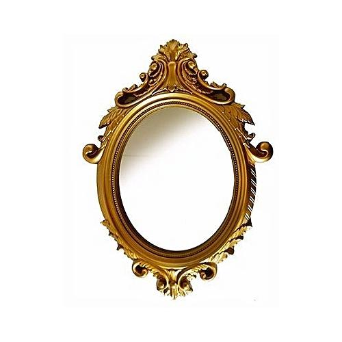 Vintage Gold Oval Mirror, Medium