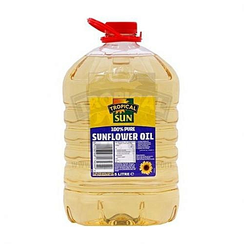 100% Pure Sunflower Oil 5litres By 4