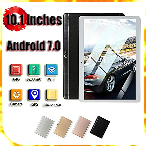HOT SALE New 64GB+4G 10.1'' Android 7.0 Tablet PC Octa 8 Core HD WIFI Bluetooth 2 SIM 4G Gold