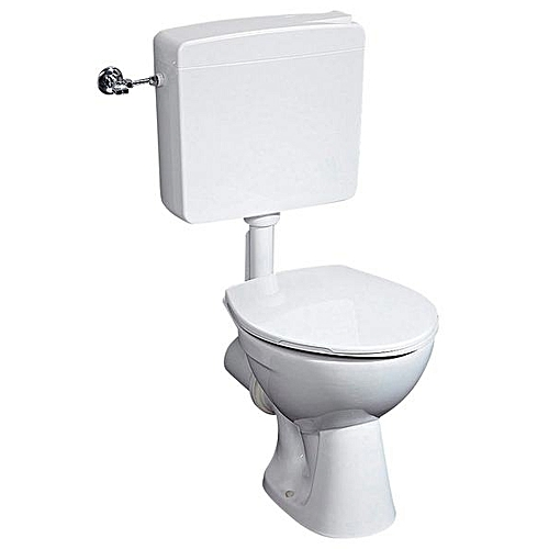 COMPLETE Gustavsberg Water Closet,all White,with Washhand Basin