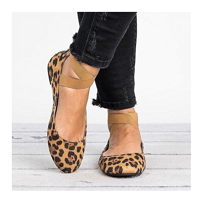 04700c9bc26d Fashion Stylish Women's Flat Leopard Print Single Shoes | Jumia NG