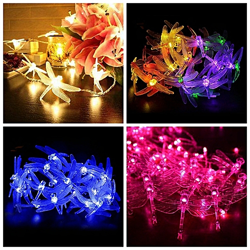 Battery Powered 2.5M 5M Dragonfly LED Fairy String Lights For Christmas Wedding Party DC4.5V-