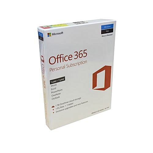 Office 365 Personal Subscription - 1 User (1 Year)