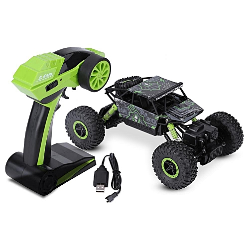 3Colors 2.4GHz Remote Control Four-Wheel Drive Crawler Car Truck 1:18 RC Model Vehicle Toy