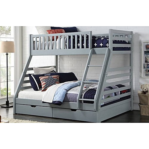 Bro-Grey Bunk Bed 3 By 6ft/ 4 By 6ft)