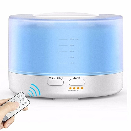 Home-700ML Remote Control Ultrasonic Oil Diffuser Air Humidifier Aroma Mist Maker White