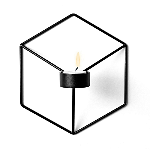 3D Geometric Candlestick Metal Wall Candle Holder For Home Decorations Weddings