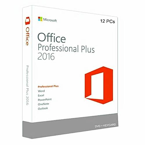 Microsoft Office Professional Plus 2016 - 12 PCs