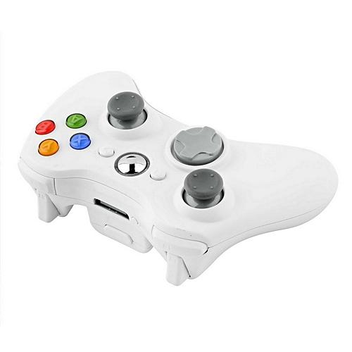 Wireless Shock Game Controller For Microsoft XBox 360 XBox360 White New HOT-White