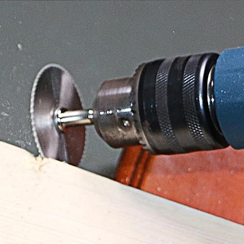 5x HSS Circular Wood Cutting Saw Blade Discs + 2x Mandrel Drill For Rotary Tool