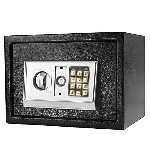 Black Steel Digital Electronic Coded Lock Home Office Safe Box + Override Key US