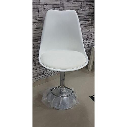 CLASSYCOD PLASTIC ADJUSTABLE OFFICE CHAIR - WHITE