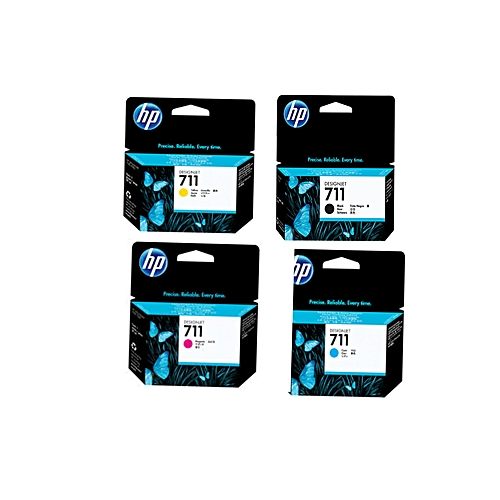 711 29-ml Cyan Ink Cartridge (CZ130A) 711 38-ml Black Ink Cartridge (CZ129A)