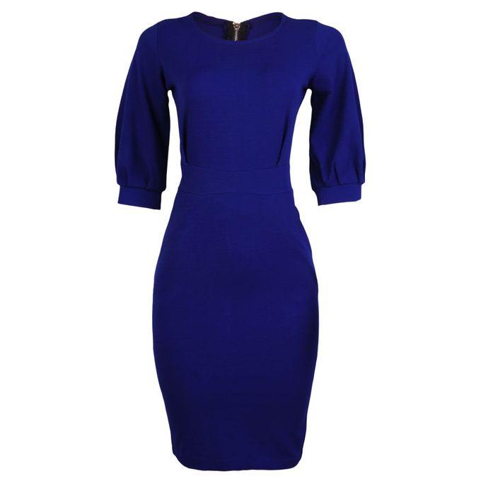 ZY Corporate Midi Gown – Blue | Buy online | Jumia Nigeria