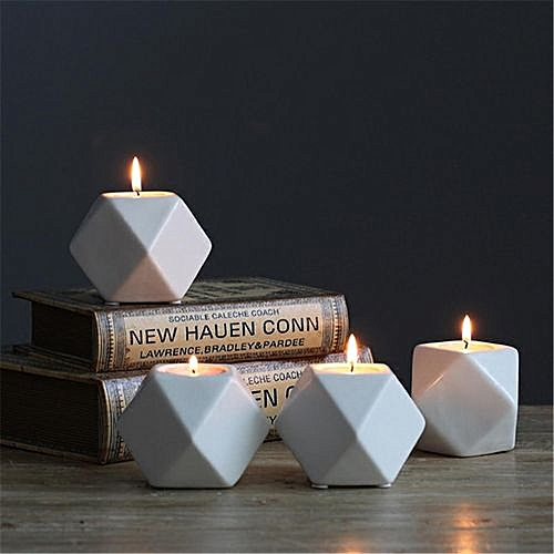 Nordic Household Candlestick Candle Ceramic Candle Holder For Romantic Chinese Candlestick Wedding Gift Candlelight Dinner