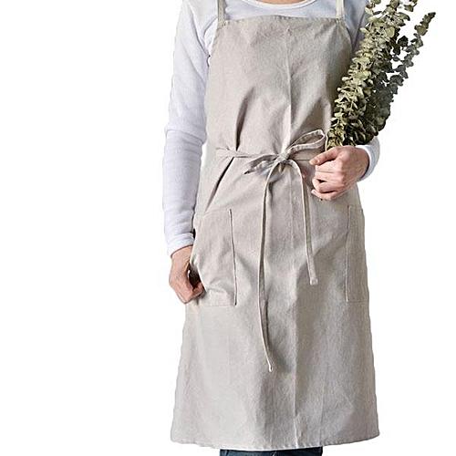 Cotton Aprons Kitchen Baking Overalls Pure Warm Color Simple Plain Style Apron