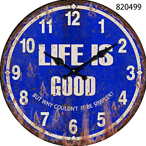 Retro Vintage Wall Clocks Quartz Clock Mute Decor Ornaments 23cm 30cm 34cm