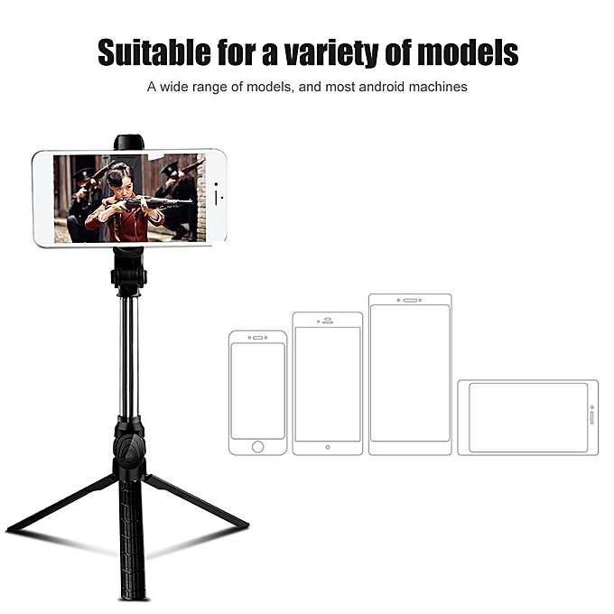 2018 New Bluetooth Remote Controller Hand-held Selfie Stick Tripod  Perfect  For Pictures, Video Recording  Compatible With Android & IOS Phones +