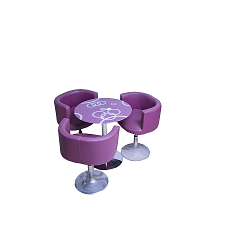 Coffee Set Of 1 Table With 3 Chairs