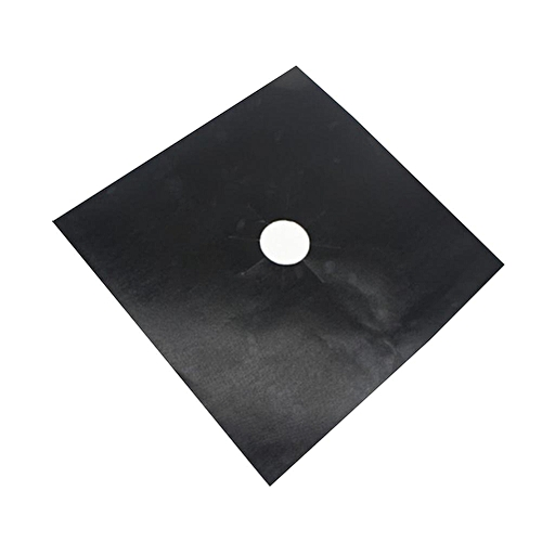 1Pc Reusable Range Covers Stove Protector Non Stick Pad Cooker Cleaning Mat Sheet(Black)