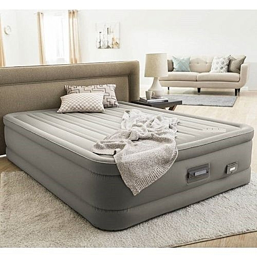 Queen Intex Premaire Dream Support Air Bed Mattress With In Pump & USB