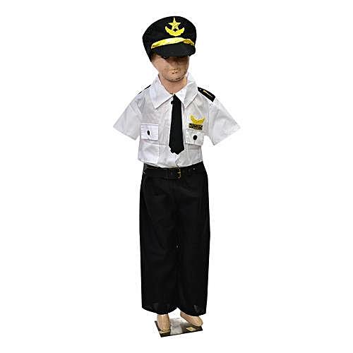 Kids Pilot Dress Up Costume- Unisex- Complete Set