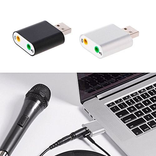 1Pc New Aluminum USB 2.0 External 3D Stereo 7.1 Channel 3.5mm Aux Out Usb Audio Sound Card Adapter For Win 7/8 Vista Mac OS