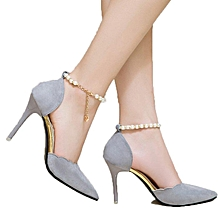3f0b0679adc Gray Women Pointed High Heel 9CM