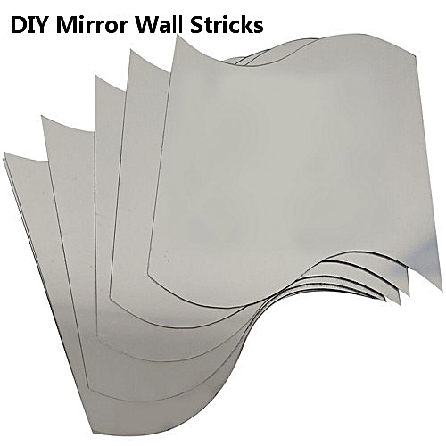 6Pcs/Set DIY Removable Plastic Mirror Wall Art Stickers
