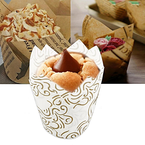 50PCS Mini Round Cake Baking Cups Home Party Wedding