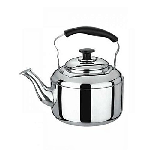 Glittering 4 Liters Whistling Kettle - Silver