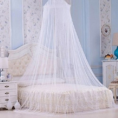 Mosquito Net - Circular Canopy Net With Ring - Color May Vary