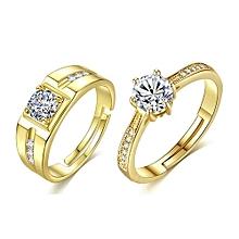 77985282b2 Women & Men Ring Set Wedding Engagement Adjustable Ring