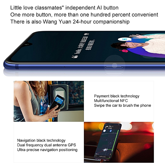 Mi 9, 6GB+128GB, Global Official Version, Screen Fingerprint  Identification, Face ID, 48MP Triple Rear Cameras, 6 39 Inch Water-drop  Screen MIUI 10,