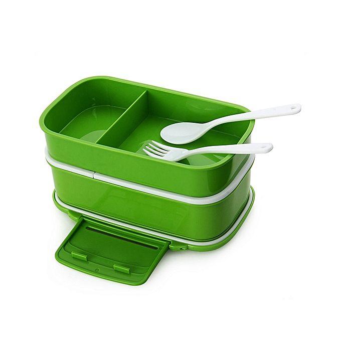 generic double tier bento lunch box green buy online jumia nigeria. Black Bedroom Furniture Sets. Home Design Ideas