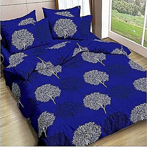 Quality Bedsheet With 4pillow/ Duvet Set- Multicolor