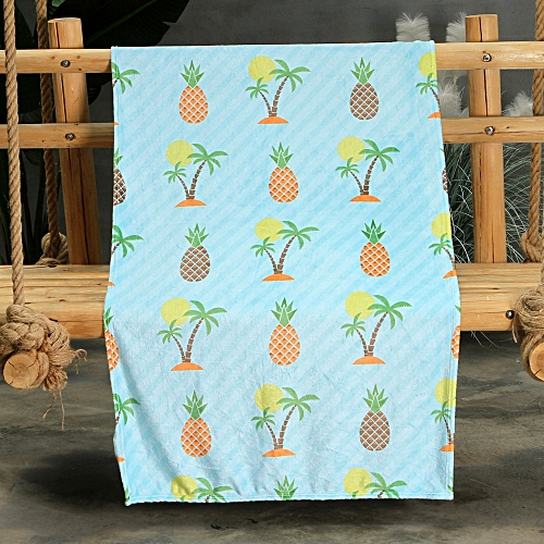 Correponde Pineapple Summer Flannel Quilt Thin Bedding Throws Air Conditioning Blanket