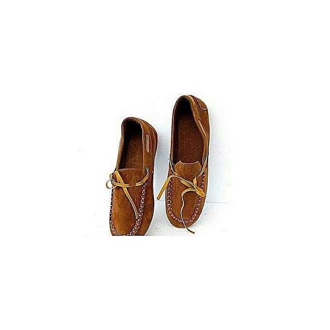 c6b8c52f767 Fashion Unique Ladies Loafers- Brown