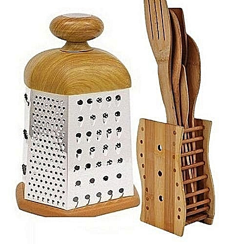 Wooden Grater And Wooden Spoons Set - Wooden Grater And Wooden Sets Of Spoons