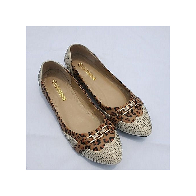 707d6a16d083 Fashion Stylish Female Flat Shoes - Multicolor/Leopard Skin | Jumia NG
