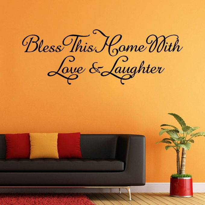 Skywolfeye Bless This Home Removable Art Vinyl Mural Home Room Decor Wall Stickers Black Buy