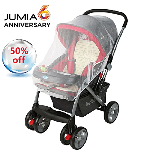 New Easy Infants Baby Stroller Pushchair Pram Mosquito Insect Net Netting Cover Buggy Elastic Design