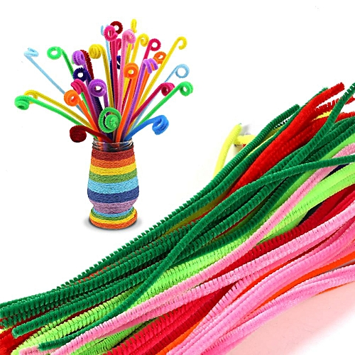100pcs Mix Colors Wires DIY Art Educational Handmade Twist Rods Toys